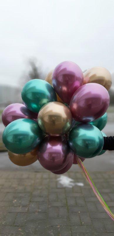 """Chrome balons ar hēliju 12""""(30cm)"""