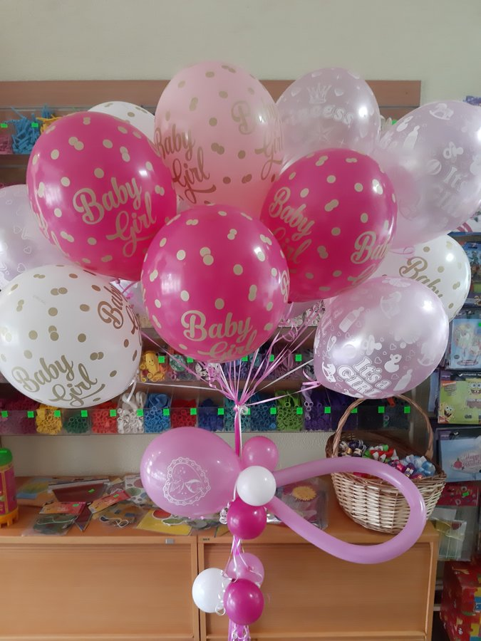 15 baloni ar hēliju + balonu knupitis #407