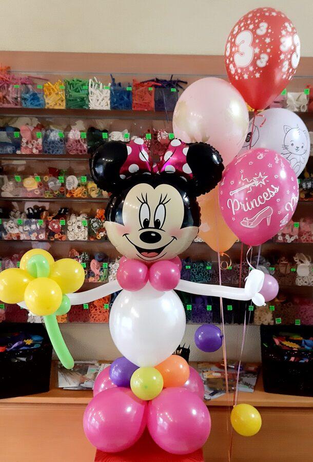 Pušķis no 5 baloniem + figura #910
