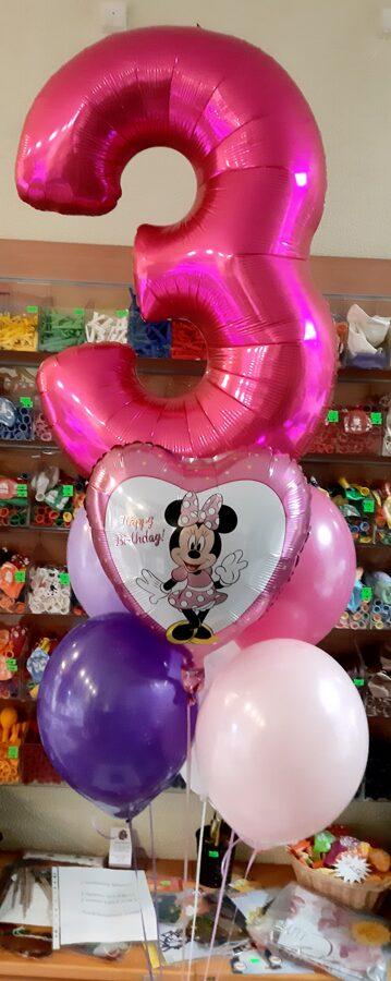 "Cipars +5 baloni + Folijas balons 18""  #715"