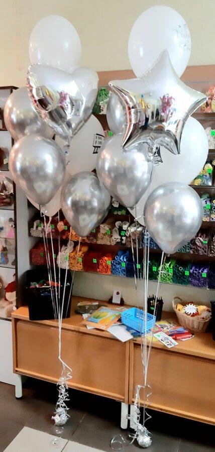 2 pušķi no 7 baloniem ar hēliju #1108