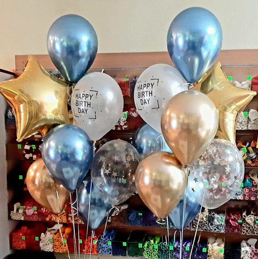 2 pušķi *7 baloniem +zvaigznīte #1128