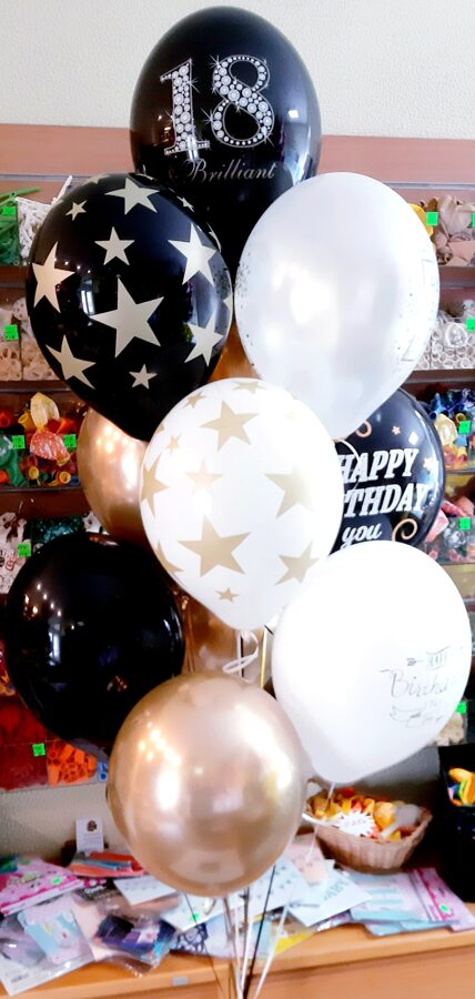 9 baloni ar hēliju #1107