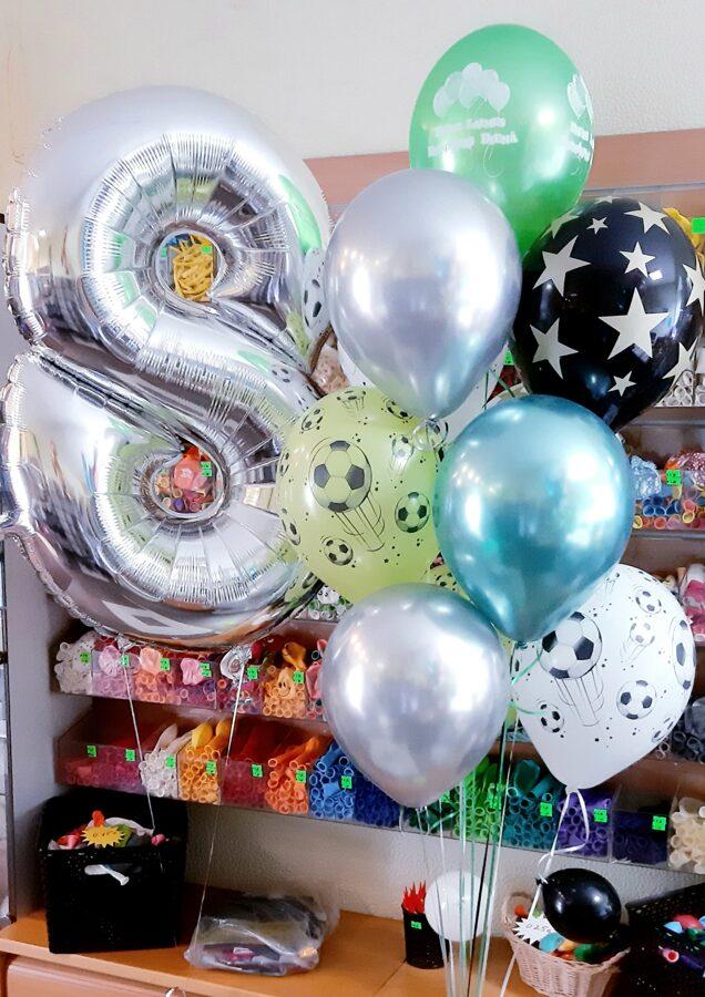 Cipars + pušķis no 10 baloniem #730