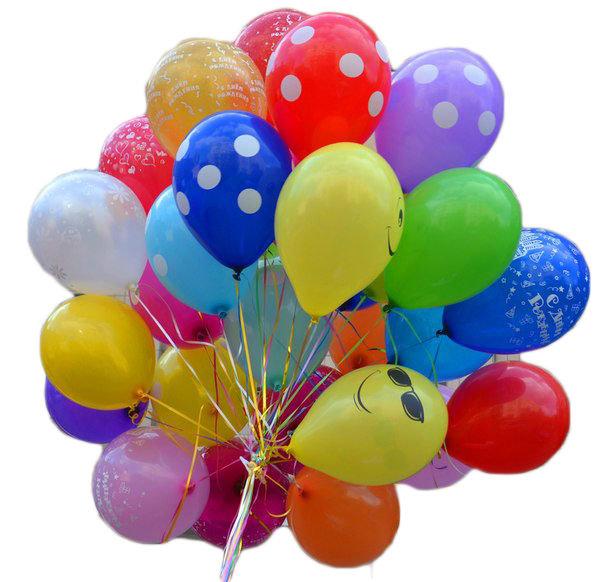 """Balons ar zimejumu un hēliju 12""""(30cm)"""