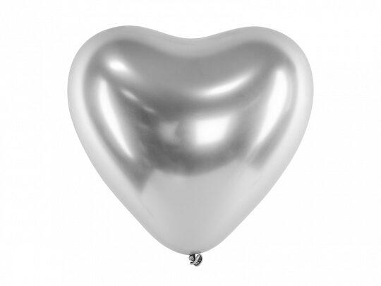 Chrome balons-sirds 27cm ar hēliju #120