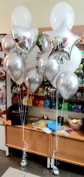 Bouquet from 5 helium balloon (2pc) #1108