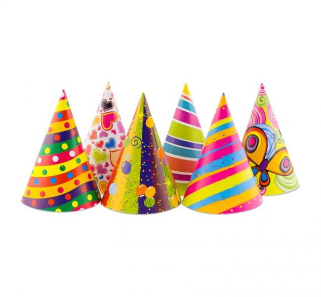 Papīra cepures, 6 gb #058
