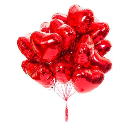 Foil balloons- hearts #523